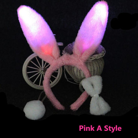 Light Up Bunny Ears Headband