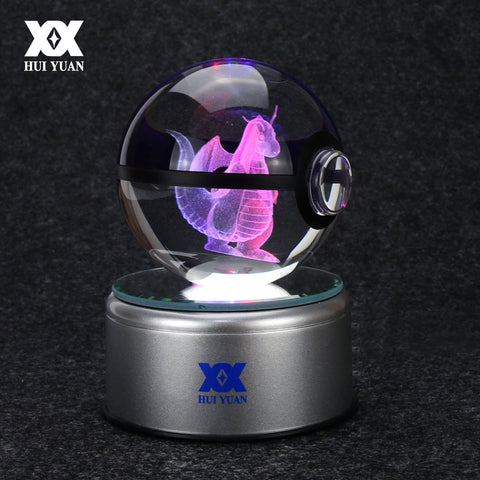 3D Pokemon Go Light Glass Ball