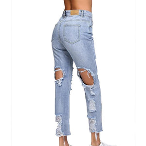 Distressed Ankle Denim-[women's clothing]-truthincloth