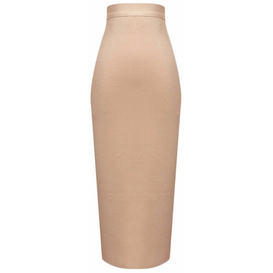 Bandage Midi Skirt-[women's clothing]-truthincloth