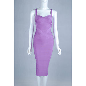 Midi Bandage Dress-[women's clothing]-truthincloth