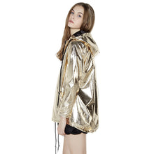 Zip Up Gold Jacket-[women's clothing]-truthincloth