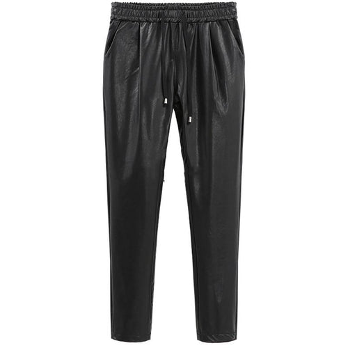 Leather Jogger-[women's clothing]-truthincloth