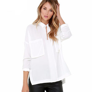 Pocket Blouse-[women's clothing]-truthincloth