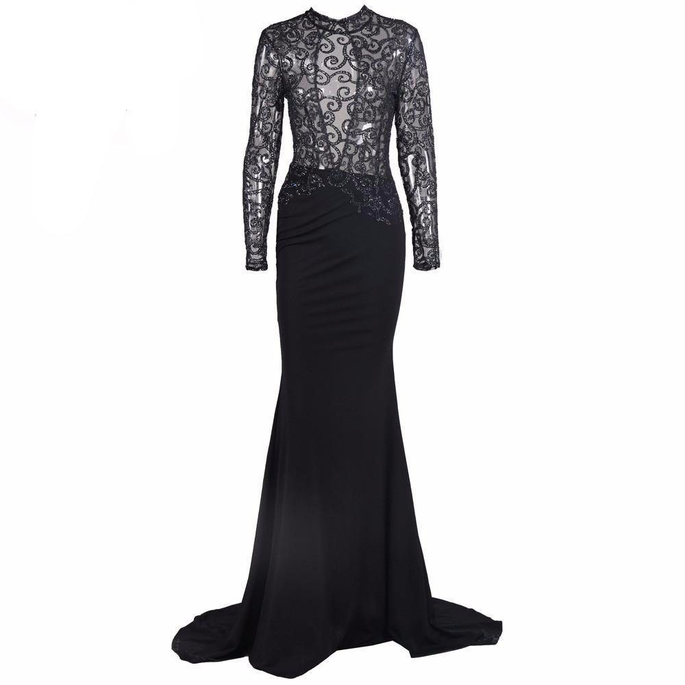Long Sleeve Sequin Gown – truthincloth