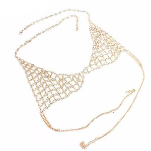 Rhinestone Bra Body Chain-[women's clothing]-truthincloth
