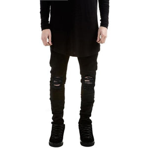 Destroyed Truth Black Denim-[men's fashion]-truthincloth