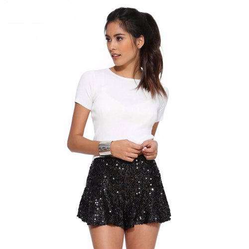 Sequin Hot Short-[women's clothing]-truthincloth