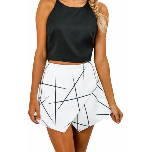 Line Skort-[women's clothing]-truthincloth