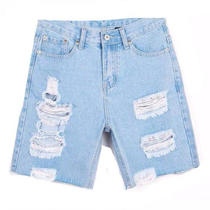 Ripped Bermuda Short-[women's clothing]-truthincloth
