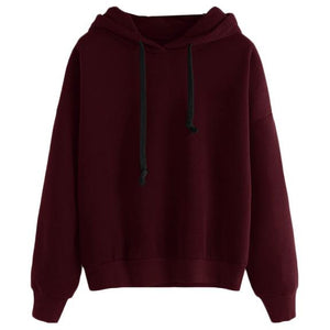 Burgundy Hoodie-[women's clothing]-truthincloth