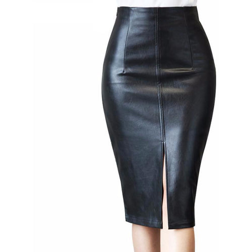 Kimmy Leather Skirt-[women's clothing]-truthincloth