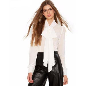 Bow Blouse-[women's clothing]-truthincloth