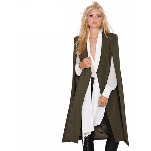 Trench Cape-[women's clothing]-truthincloth