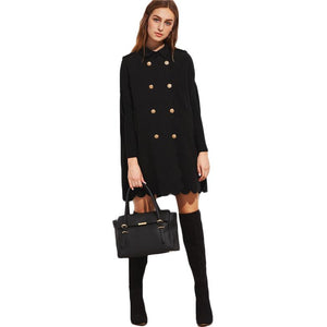 Scallop Cape Coat-[women's clothing]-truthincloth