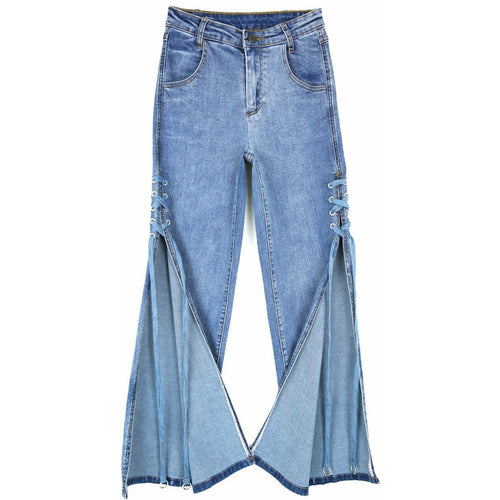 Slit Side Denim-[women's clothing]-truthincloth
