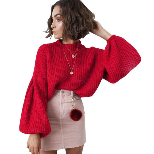 Bell Sleeve Sweater-[women's clothing]-truthincloth