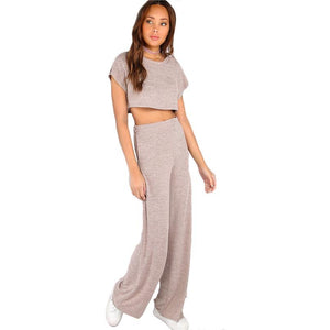 Heathered Sporty Two Piece-[women's clothing]-truthincloth