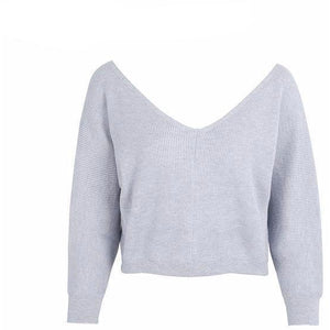 Deep V Knit-[women's clothing]-truthincloth