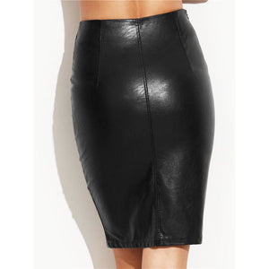Leather Skirt-[women's clothing]-truthincloth