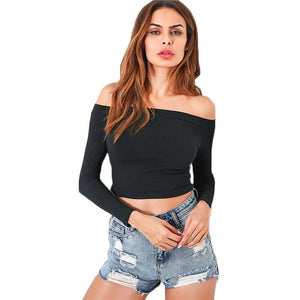 Long Sleeve Ribbed Top-[women's clothing]-truthincloth