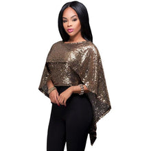 Sequin Cape Top-[women's clothing]-truthincloth