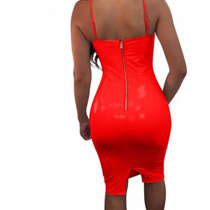 Latex Bustier Dress-[women's clothing]-truthincloth