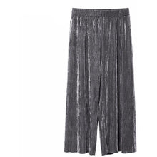 Pleated Shimmer Pants-[women's clothing]-truthincloth