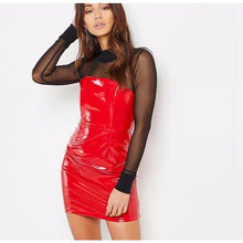 Leather Mini Dress-[women's clothing]-truthincloth