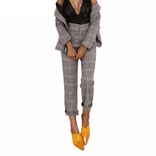 Plaid Trouser-[women's clothing]-truthincloth