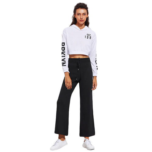 Contrast Flare Sweats-[women's clothing]-truthincloth