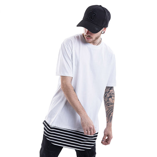 The Stripe Lined Hem T