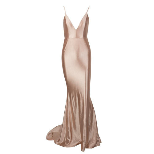 Nude Deep V Gown