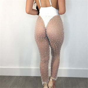 Beaded Mesh Legging