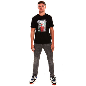 Wall Street 2.0 Reflective Luxury T-Shirt Black