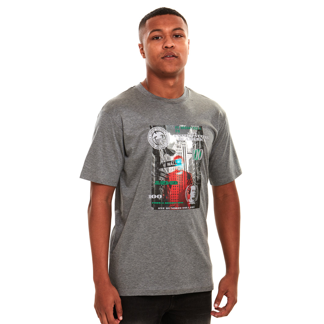Wall Street 2.0 Reflective Luxury T-Shirt Grey