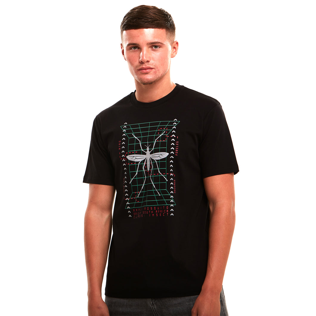 Mosquito Reflective Luxury T-Shirt Black