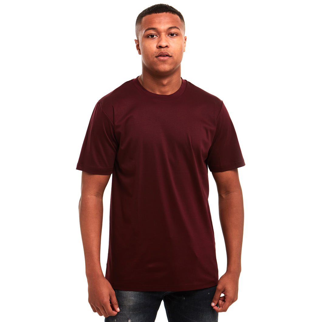 Plain Mercerised T-Shirt Maroon