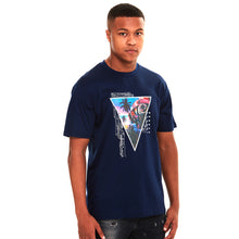 Circuit Board Glow In The Dark Luxury T-Shirt Navy