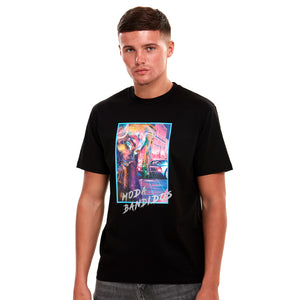 Run All Night Reflective Luxury T-Shirt Black