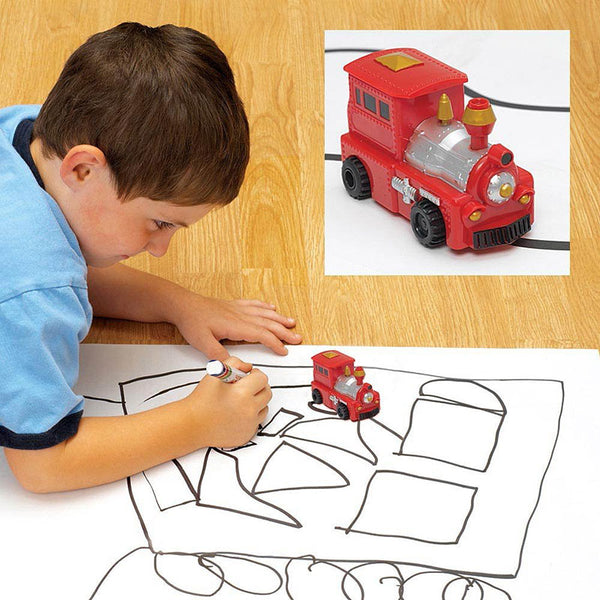 Inductive Toy Vehicle With Optical Sensor That Reads And Automaticaly Follows Any Black Line Drawn On a Surface. A Perfect Toy To Keep Your Kids Busy For Hours! - The Fancy and Dandy Store