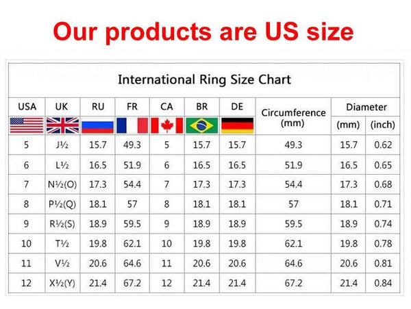 Fancy and Dandy US Ring Sizes