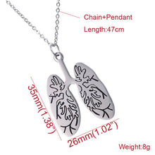 Anatomical Lung Anatomy Necklace, necklace - Sleek Science