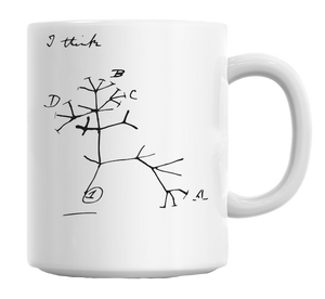 Darwin Tree of Life Mug, Mug - Sleek Science