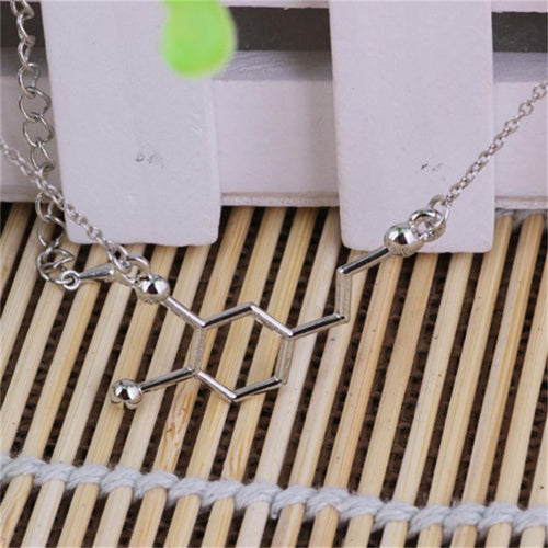 Dopamine Molecule Necklace, necklace - Sleek Science