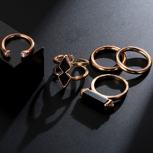 Assorted Ring set in Gold, Ring - Sleek Science