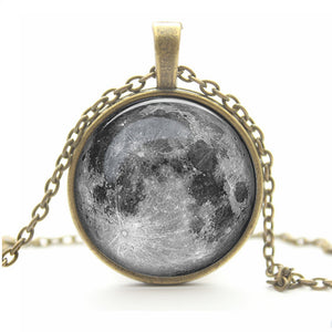 Full Moon Pendant Necklace, necklace - Sleek Science