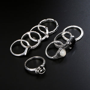Assorted Ring set in Silver, Ring - Sleek Science
