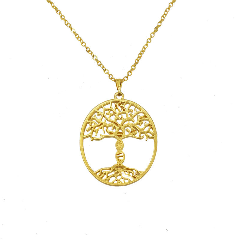 trunk gold a pendant science from jewelry dna dnawhite product tree delftia of with life necklace