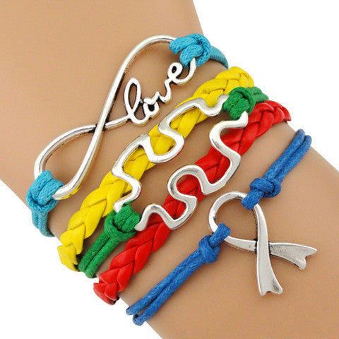 Autism Awareness Love Bracelet, bracelet - Sleek Science